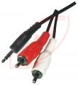 JACK 3,5 mm stereo – 2 x RCA 1,5 m