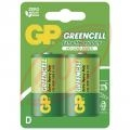 2ks 1,5V D batérie GP GREENCELL R20P, blister, cena za 1 ks