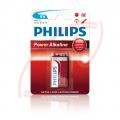 9V batéria Philips Power Alkaline, 1 ks, blister