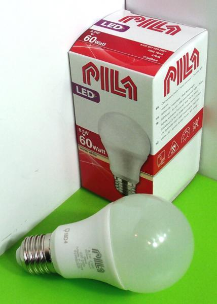 8,5W E27 LED klasická žiarovka Philips PILA LED A60 FR ND, 2700 K, 806 lm, 112x60mm, matná
