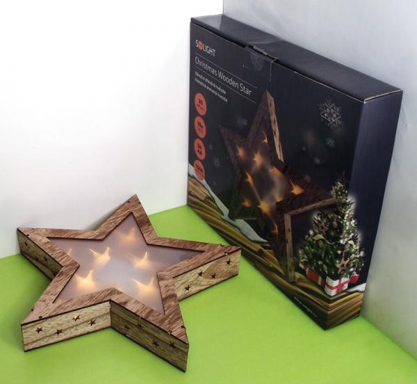 2fd8a51e5cbc 10 LED vianočná dekorácia-hviezda s 3D efektom SOLIGHT 1V42